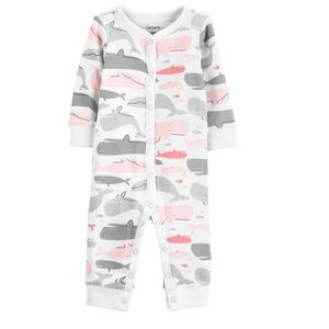 Carter's Whale Snap Footless Sleep n Play Pajamas